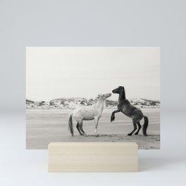 Wild Horses 4 - Black and White Mini Art Print