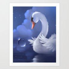 Swan Pleados Art Print