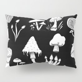 Mushrooms B&W-from the inside out Pillow Sham