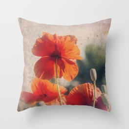 Red Poppies, Flowers Throw Pillow