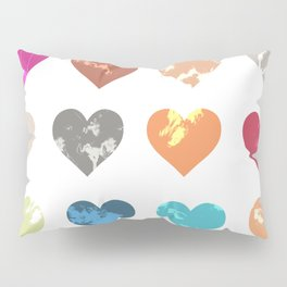 Colorful love pattern Pillow Sham