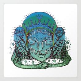 Where She Rules: Wisdom in Silence Art Print