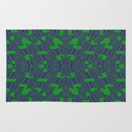Etnic etic Green Rug
