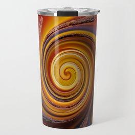 Orange Spiral Travel Mug