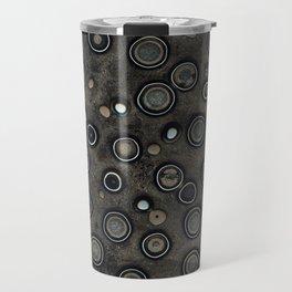 Old Metal Background with Circles Travel Mug