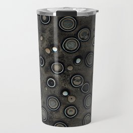 Old Metal Background with Circles Travel Mug