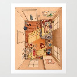 Lonely Afternoons Art Print