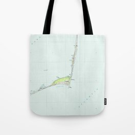 Cape Hatteras National Seashore Map (1985) Tote Bag