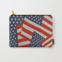 Patriotic Americana Flag Pattern Art #2 Carry-All Pouch