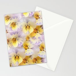 Pastel Vintage Pansies 2 Stationery Cards