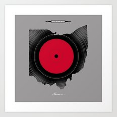 OHIO 33⅓ rpm LP Record Art Print