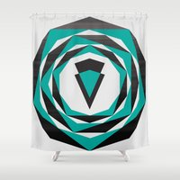 arya Shower Curtains featuring Decahedron Hexagon combined! by Hinal Arya