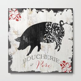 French Farms Pig Metal Print