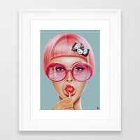 ariana grande Framed Art Prints featuring Cool Redux by Giulio Rossi