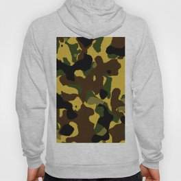 Abstract brown green black camo pattern Hoody