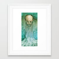 beard Framed Art Prints featuring Beard by Lee Grace Design and Illustration