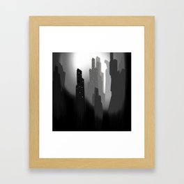 jungian city Framed Art Print