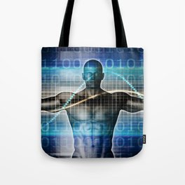 Science Technology Innovation as a Abstract Background Tote Bag
