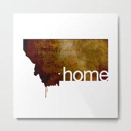 'home' Metal Print