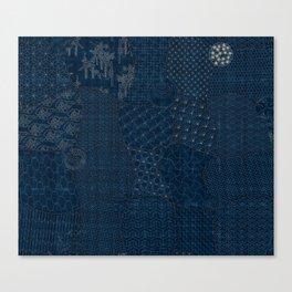 Sashiko - random sampler Canvas Print
