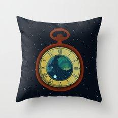 Cosmic Pocket Watch Throw Pillow