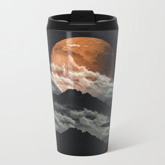 Spaces III - Mars above mountains Metal Travel Mug