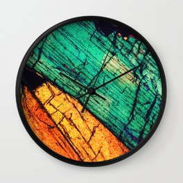 Epidote and Quartz Wall Clock