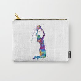 Volleyball Girl Setter Colorful Watercolor Art Carry-All Pouch