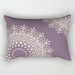 Lace in White on Pale Purple Background Rectangular Pillow