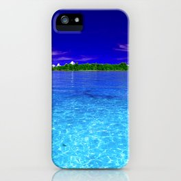 Shimmering Tropical Caribbean Island Waters iPhone Case