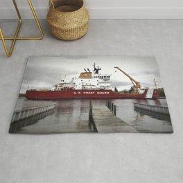 USCG Mackinaw docked Rug