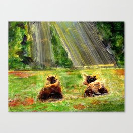 Cows of Bavaria Canvas Print