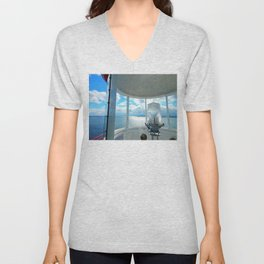 Souris Lighthouse View from the Top Unisex V-Neck