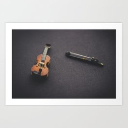 Miniature Violin  Art Print