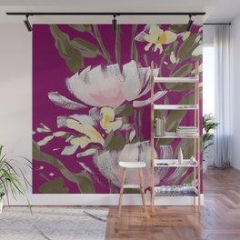 tulips on plum Wall Mural