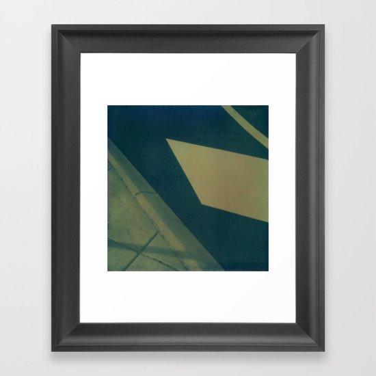 Street Abstraction Polaroid Framed Art Print