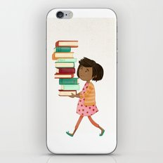 Library Girl 4 iPhone & iPod Skin