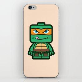 Chibi Michelangelo Ninja Turtle iPhone Skin