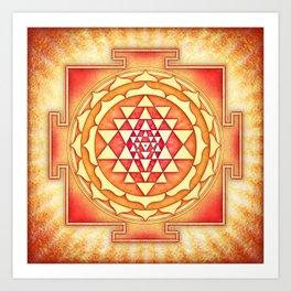 Sri Yantra XVI Art Print