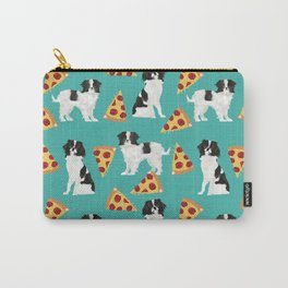 Japanese Chin cheery pizza slice junk food funny cute gifts for dog lover pet friendly pet protraits Carry-All Pouch