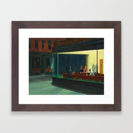 Edward Hopper's Nighthawks Framed Art Print