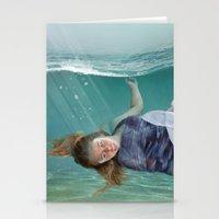 mermaid Stationery Cards featuring Mermaid  by Mary Kilbreath