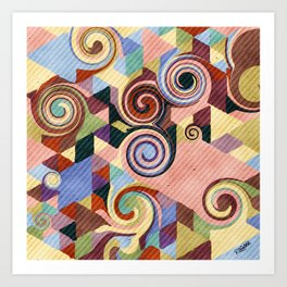 Swirl Deconstruction Art Print