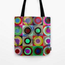 modern mid century, Graphic art, geometric art, circles, modern painting, abstract p Tote Bag