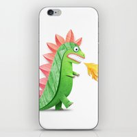 godzilla iPhone & iPod Skins featuring Godzilla by Keyspice