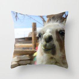 Lhama Throw Pillow