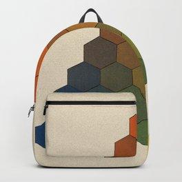 Lichtenberg-Mayer Colour Triangle (Opera inedita - Vol. I, plate III), 1775, Remake, vintage wash Backpack