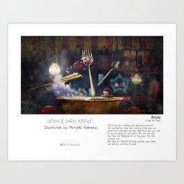 """""""Beijing"""" in words & image (M.Konecka) Art Print"""