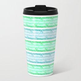 blue&green stripes Travel Mug