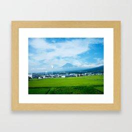 Fujisan By Train Framed Art Print